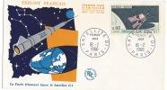 Document Philatélique,enveloppe Fusée Diamant Et Satellite 1966 - Sonstige