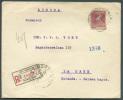30 Cvos Obl. Sc BUENOS AYRES S/L. Recommandée Du 28 Janvier 1929 Vers La Haye (PB) - Verso : Illustration DRAPEAU - Cie - Argentine