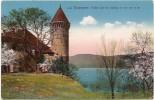 CH - FR - Estavayer - Vieille Tour Du Château Et Vue Sur Le Lac - Phototypie Co. N° 8823 (gelaufen / Circulée 1914) - FR Freiburg