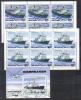 North Korea Mi 2526-2527 + Bl 191 Ships Icebreakers In Sheets Of 6 1984 MNH - Barche