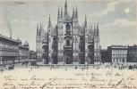 Saluti Da Milano - Il Duomo, 1898, Timbre , Cachet - Milano (Milan)