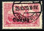 DANZIG 1920 2.50 Mk.. Postally Used, Expertised Infla.  Michel 12b - Danzig