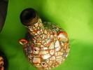 Bouteille En Terre -cloisonnee-1 Anse A Ete Recollee-- Hauteur 20cm Avec 2 Anses-travail D´un Patient- - Asian Art