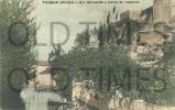 PORTUGAL - TORRES NOVAS - RIO ALMONDA E PARTE DO CASTELO - 1905 PC - Santarem
