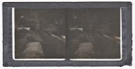 BRAZIL RIO DE JANEIRO OR ? TRAIN STATION RAILROAD  GLASS SLIDE STEREO PHOTOGRAPHS  (CRACKED) ORIGINAL VINTAGE CA1900 - Diapositivas De Vidrio
