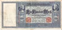 BILLETE DE ALEMANIA DE 100 DE MARCOS DEL AÑO 1909   (BANK NOTE) - [ 2] 1871-1918 : Imperio Alemán