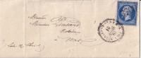 LOIR ET CHER - ST LAURENT DES EAUX 19-4-1863 - N°22 OBLITERATION GC3708 - INDICE 14 COTE140€. - Storia Postale