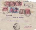 7758# LETTERA FRANCOBOLLI EXPRES RACOMMANDATA GENOVA 1922 => PARIGI PARIS - Storia Postale