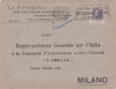 7764# VITTORIO EMANUELE III / LETTERA FONDIARIA FIRENZE VISITATE LA TERZA FIERA INTERNAZIONALE DEL LIBRO 1928 => MILANO - 1900-44 Vittorio Emanuele III