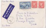 7775# CANADA LETTRE BY AIR MAIL PAR AVION Obl ST AUBERT 1954 Pour PARIS LETTER COVER - 1952-.... Règne D'Elizabeth II