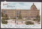 Deutschland Deutsches Reich PPC Gruss Aus Berlin Litho BERLIN 1908  Sent To Denmark (2 Scans) - Non Classés