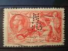 GREAT-BRITAIN 1934 1936 Nr 199 5 S. / COT. 55 € / SEAHORSES PERFIN / Very Nice ! - 1902-1951 (Könige)
