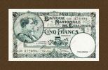 *Belgie - Belgique* 5 Francs Type 1919 **UNC** 25-04-38 * Lot 2098 - [ 2] 1831-... : Koninkrijk België