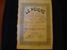 """Action Privilégiée""""Le Peigné """"Capital Social 2 000 000F Verviers  1911 Textile,laine,wool. - Textiel"""