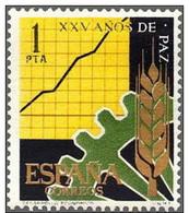 España 1964 Edifil 1582 Sello ** XXV Años De Paz Española Desarrollo Producción 1Pta Spain Stamps Espagne Timbre - 1931-Aujourd'hui: II. République - ....Juan Carlos I