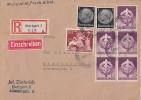 DR R-Brief Mif Minr.2x 512,817,5x 818 Stuttgart 14.12.42 - Deutschland