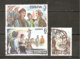 España/Spain-(usado) - Edifil  2652, 2654-55  - Yvert  2280, 2282-83 (o) - 1931-Hoy: 2ª República - ... Juan Carlos I