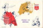 TISSU  GARANTI  BOUSSAC AVEC CACHET PUB AUX EMPLOYES REUNIS   GRENOBLE - Textile & Vestimentaire