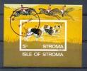 MR288 FAUNA HONDEN JACHT PAARDEN HUNTING DOGS HORSES HUNDE PFERDE CHIENS CHEVAUX ISLE OF STROMA SCOTLAND 1969 Gebr/used - Honden