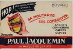 Buvard -  **  MOUTARDE **  Paul JACQUEMIN   - HOP !! Et La Capsule Plastique S'enléve !!!  PLUS DE ROUILLE - Mostard