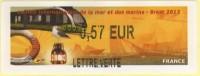 LISA De Brest, Tram Et Voilier, Très Belle Illustration. Lettre Verte - 2010-... Vignettes Illustrées