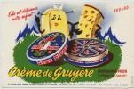 Buvard -  **   MERE  PICON   **  Signé R.Jacquet  - CREME DE GRUYERE  - FROMAGERIE  PICON - St FELIX -  (Haute Savoie) - Leche