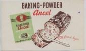 Buvard -  **   ANCEL    **    BAKING - POWDER  -  Pâte Fine Et Légére - Sucreries & Gâteaux