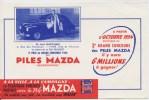 Buvard -  **  PILES  MAZDA  **  2éme PRIX DU GRAND CONCOURS DE 1953 - Mr Jean MARTINAIS  Gagnant De La 203 Peugeot - Accumulators