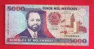 MOZAMBIQUE, Banknote, 1991, Used VF.. 5.000 Meticais - Mozambique