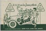 Buvard -  **  JEUDI   **  - GRANDS MAGASINS D'HABILLEMENT SPECIALISES  - 38  Rue De L'Hotel De Ville  - LYON  -  Rhône - Textilos & Vestidos