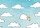 CPM Carte Animaux Humour 14,7x10,5 Cm Marc Chalvin + Enveloppe - Mouton Rêve Sheep Dream Ciel Sky - Humour