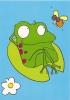 CPM Carte Animaux Humour 14,7x10,5 Cm Sarah Nayler + Enveloppe - Grenouille Nenuphar - Humour