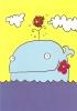 CPM Carte Animaux Humour 14,7x10,5 Cm Sarah Nayler + Enveloppe - Baleine Mer Océan Poisson Whale Sea - Humour
