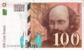 BILLETE DE FRANCIA DE 100 FRANCOS DEL AÑO 1997 DE CEZANNE  (BANKNOTE) - 1992-2000 Ultima Gama