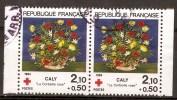 FR 2345a Croix Rouge - La Corbeille Rose 1984 TP De Carnet ( 2345 A ) - Used Stamps