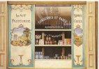 CPM Dessin André RENOUX Crèmerie Rue St Jacques PARIS 5e Boutique Magasin Commerce Devanture Vitrine Décor Vache Poules - Shops