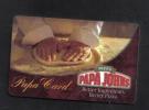 PAPA  CARD -  PAPA JOHNS - Hotel Keycards