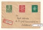 DR Interesanter Brief Einschreiben Aus Pleß Oberschlesien Ohne Ankunftstempel (ab197) - Allemagne