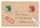 DR Interesanter Satz-Brief Aus Pleß Oberschlesien Ohne Ankunftstempel (ab24) - Allemagne