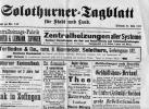 JOURNAL  COLOTHURNER-TAGBLATT N° 117 DU 22 MAI 1907 - Old Paper