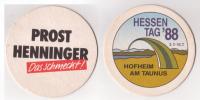Henninger Bräu Das Schmeckt , Hessentag 1988 , Hofheim Am Taunus - Bierdeckel