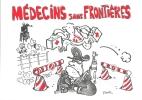 Carte Postaletheme BD  Médecins Sans Frontieres  Dessin De Plantu - Bandes Dessinées