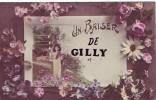 GILLY = Un Baiser De..... - Carte Culeur (écrite) 1922 - België