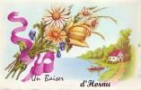 HORNU = Un Baiser De ..... - Carte Couleur  (vierge) - België
