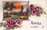 JUMET = Amitiés De .... - Carte Couleur  (écrite) 1935 - België
