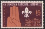 PAKISTAN 1967 MNH  4TH NATIONAL SCOUT JAMBOREE, SCOUTING, SCOUTS, BADGE - Pakistan