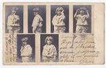 Art Nouveau NPG Children Smoking Enfants  Real Photo POSTCARD Ca1900 Cpa AK (W3-0019) - Niños