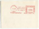 TARGHETTA ROSSA PUBBLICITARà GIOVANNI AGUSTA AERONAUTICA ANNO 1985 - Affrancature Meccaniche Rosse (EMA)