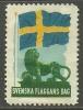 SCHWEDEN Sverige Sweden Ca 1930 Svenska Flaggens Dag Flag Flagge - Schweden