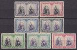 Spain 1928 Mi. 376-79, 381-83 Pope Papst Pius XI. Und König Alfons XIII. Santiago Ausgabe MH* - Ungebraucht